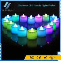 24Pcs / Box 7 Color Christmas LED Candle Lights Flicker Decorative Candle