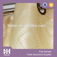 Custom yarn dyed polyester fabric Curtains, living room jacquard curtain panels