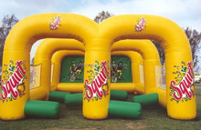 attractive inflatable soccer dribble arena, inflatale football dribble pitch