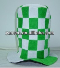 White and green Ireland festival top hat