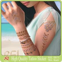 2015 golden temporary tattoo sticker flash temporary tattoos
