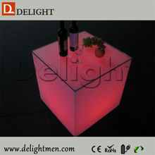 Decoration light up RGB remote control rechargeable led cube lounge chair for outdoor events