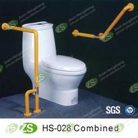 Bathroom Combined tybe nylon&stainless steel safety grab bar for disabled