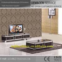 Bottom price new products tv wall unit in glass tv stands
