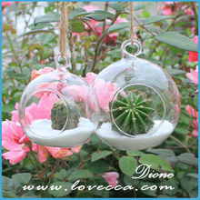 cheap glass vase / ball shaped glass flower vase / ball shape with hole