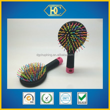 Cheap price high quality rainbow color top hot hair brush with comfortable hair comb from original factory
