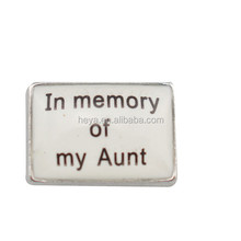 In memory of my Aunt floating zinc alloy charms for locket