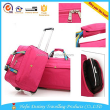 2015 polyester waterproof senior trolley luggage travel bags carry on suitcase