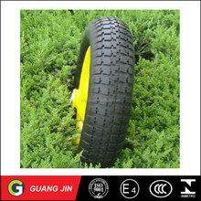 Made In CHINA 16 Inch Small Solid Flat Free Wheel Rubber Wheel PU Foam Wheelbarrow Wheel And Wheelbarrow Tyre 4.80/4.00-8