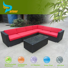 All Weather Removable Cover Set Corner Sofa With Coffee Table, Plastic Cozy Reclining Furniture Philippines Rattan Lounge