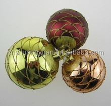 Colourful beautiful hand painting hanging Christmas ball ornament
