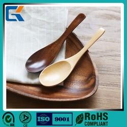 Popular Eco-friendly Handmade Pure wooden korean soup spoon