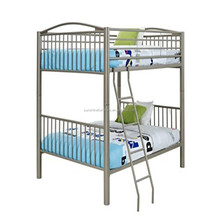 Bedroom Furniture Full over Full / Twin over Twin Heavy Metal Pewter Bunk Bed
