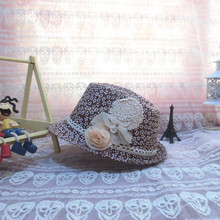 pretty girls floral summer fedora hat with bowknot MA80