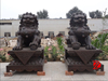 Chinese traditional life size bronze lion sculpture yard animal statues
