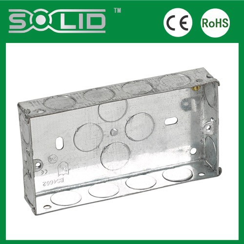 Bs4662 Standard Electrical Junction Wall Mount Light Switch Box With Knockout Holes For Steel ...