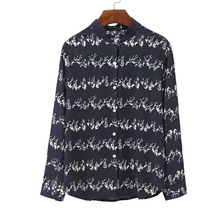 NT100044 lady wear tops pattern long sleeve chiffon fashion women blouse