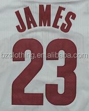LeBron James #23 Cleveland White Stitched Basketball Jersey