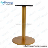 Stainless base dining gas lift tree table base