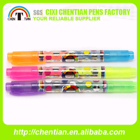 2015 Good Quality New Hot Sale 2 In 1 Pen Highlighter Combo