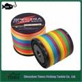 Fábrica de artesanato 1000m pe de linha de pesca trança roxo/cinza/multicolor