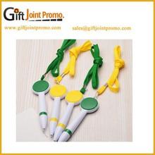 Promotional Lanyard Plastic Ballpoint Pen ,Portable Short Ballpoint Pen
