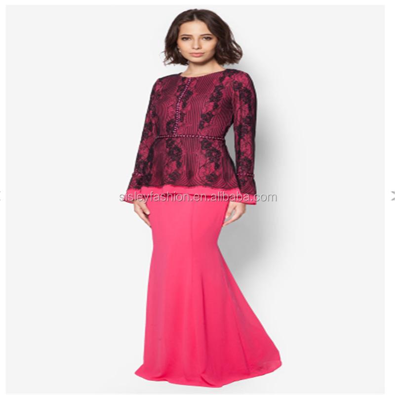 New Lace Model Baju Kurung Modern - Buy Baju Kurung,Baju Kurung Modern