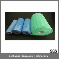 disposable non woven viscose towel with wave pattern 25pcs/roll