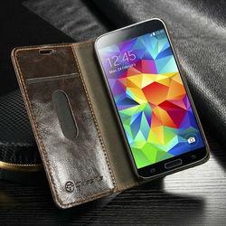 For Samsung Galaxy S5 mini Case, Accessary CaseMe Book Leather Case for Galaxy S5 mini