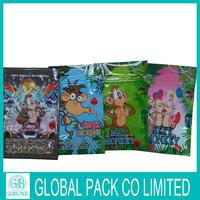 2014 New design 4g Bling Bling monkey herbal incense bag with