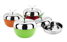 Stainless Steel Apple Shaped Separate Cases Food Container