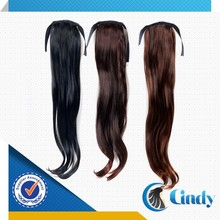 beautiful new style cheap various color wrap around 100% brazilian human hair dreadlock ponytail