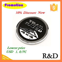 Metal Aluminum Badge Nameplate For 3D Car Trail Rated 4x4 Emblem Emblema Sign Sticker Decal
