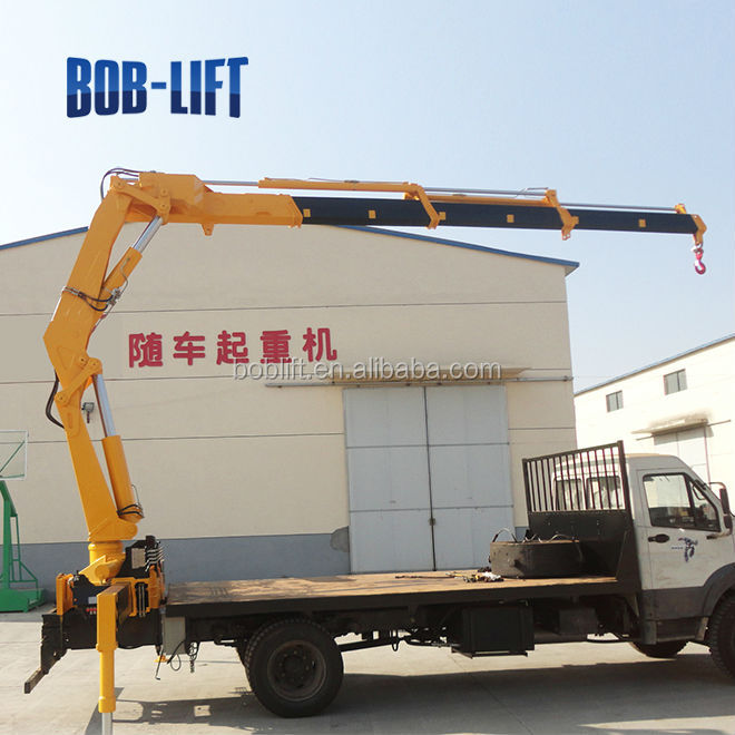 Swing Arm Hoist Mount : Ton hydraulic boom lorry loading cantilever swing arm