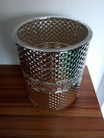 2015 new product clear plastic garbage can