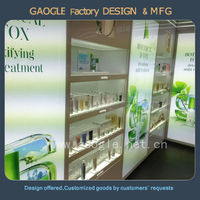 High End costume display cabinet for cosmetic display