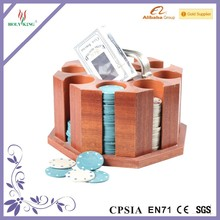 wooden casino poker chips holder