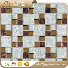 Innovative Copper And Purple Color Glass Cold Spray Mosaic