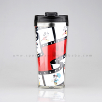 With FDA/LFGB certification Newest Plastic Travel Mug With Photo Insert