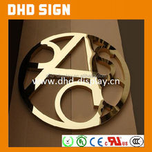 Powder coating LED channel letters/3D stainless steel letters sign/ed big letter sign