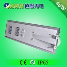 40W excellent motion sensor integrated all in one outdoor street floor light solar road lights beads water light