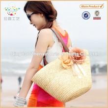 ZHENXIN Wheat Straw Tote Bag Fashion Straw Beach Bag