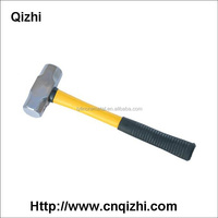 Drop forged steel head plastic rubber handle types of sledge hammer sizes factory price from China alibaba supplier