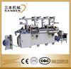 (SBM-240) 2-station automatic roll to sheet label die cutting hot stamping machine, flat bronzing machine, sticker die cutter