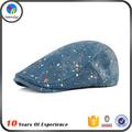 mezclilla de color azul o tela jean ajustable largo sombrero y gorra de visera boina