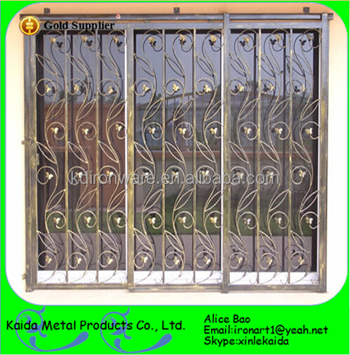 Cheap wrought iron window grill decorative home iron for Window design pakistan