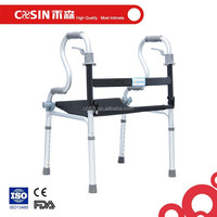 Aluminum walking aids handicapped walker with cushion