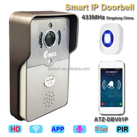 New ATZ eBELL Smart Video Door Phone With 1MP HD Color CMOS Camera Indoor 433MHz Dingdong Chime Mobilephone Open Door Anywhere