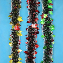 Hot Sale Christmas Tinsel Shiny tinsel Garland,Tinsel And Leaves,Professional Factory