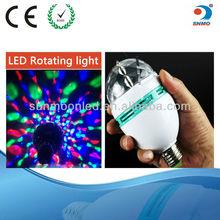 Crystal Magic Ball Effect 3w e27 led globe bulb e27 globe light bulb